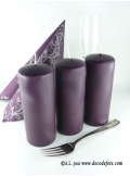 1 Bougie cylindre 15 cm prune