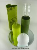 1 Bougie cylindre 15 cm vert sapin
