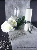 10M Chemin de table SUBLIM blanc