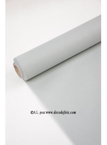 10M Nappe jetable presto gris aluminium