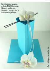 25 Serviettes jetables presto turquoise/azur
