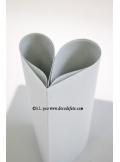 25 Serviettes jetables presto aluminium (gris clair)