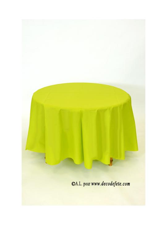 1 nappe presto ronde jetable anis kiwi. Black Bedroom Furniture Sets. Home Design Ideas