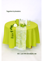 1 nappe presto ronde jetable aniskiwi - Nappe Intiss Mariage