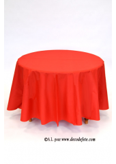1 Nappe presto ronde jetable rouge