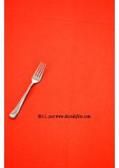 1 Nappe presto ronde jetable rouge