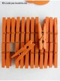 24 Pinces à linge orange