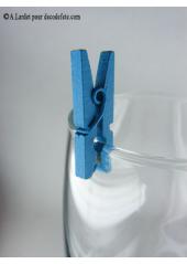 24 Pinces à linge turquoise