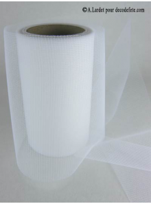 20M Tulle 8cm déco blanc