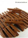 24 Pinces à linge chocolat