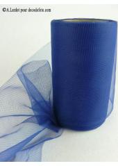 20M Tulle 8cm déco bleu marine