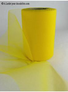 20M Tulle 8cm déco jaune