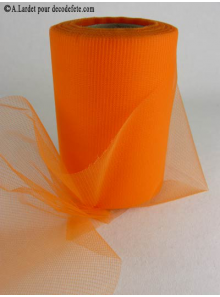 20M Tulle 10cm  déco orange