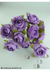 12 Roses ouvertes parme