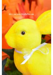 1 Lapin Velours jaune