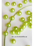50 Perles vert anis