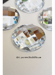 6 diamants ronds transparents
