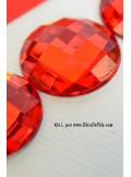 6 diamants ronds rouges