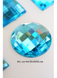 6 diamants ronds turquoise