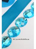 6 diamants ronds turquoise