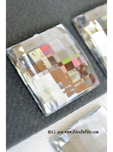 6 diamants carr s transparent faux diamants d co. Black Bedroom Furniture Sets. Home Design Ideas
