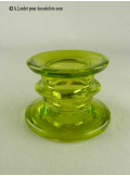 1 Bougeoir vert anis