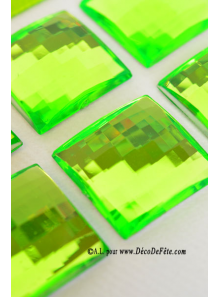 6 diamants carrés vert anis