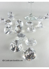 16 formes diamant transparent