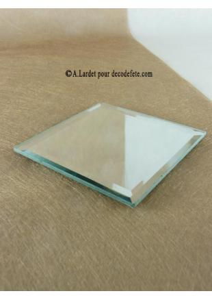 1 miroir carr 10 cm for Carre de miroir a coller