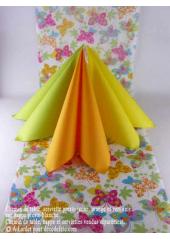 5M Chemin de table papillons vert anis