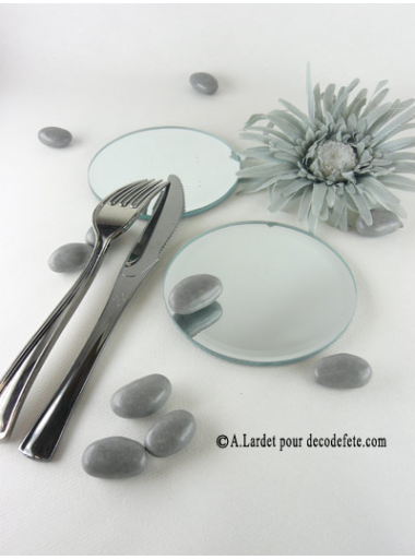 1 miroir rond 10 cm for Miroir bombe rond