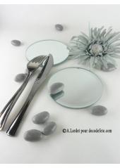 1 miroir rond 10 CM