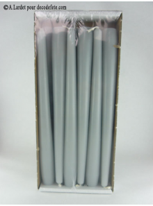 12 Bougies flambeau gris