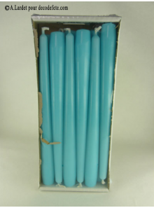 12 Bougies flambeau turquoise