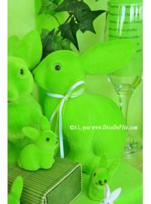 1 Lapin Flocké vert