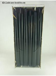 12 Bougies flambeau noir