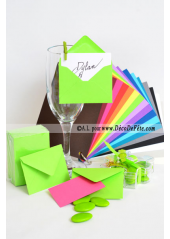 50 Mini Enveloppe vert anis