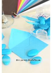 50 Mini Enveloppe turquoise
