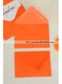 50 Mini Enveloppe orange
