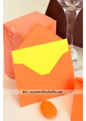 50 Mini Enveloppe orange