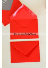 50 Mini Enveloppe rouge