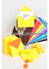 50 Mini Enveloppe jaune