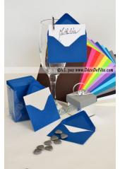 50 Mini Enveloppe bleu marine