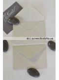 50 Mini Enveloppe gris perle