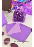 50 Mini Enveloppes mauve
