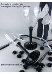 10 Verres à vin noir