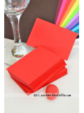 50 Mini Carte rouge