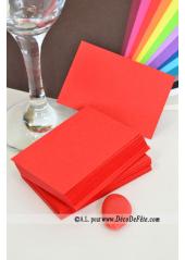 50 Mini Carte rouge