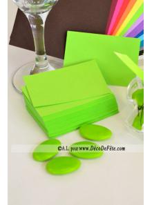 50 Mini Carte vert anis