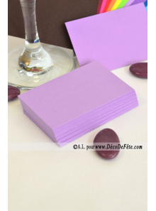 50 Mini Carte lilas